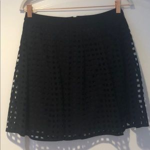 Reiss black mini skirt